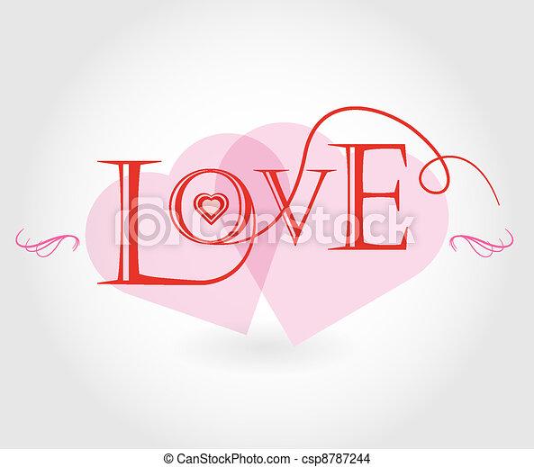 affisch, kärlek - csp8787244