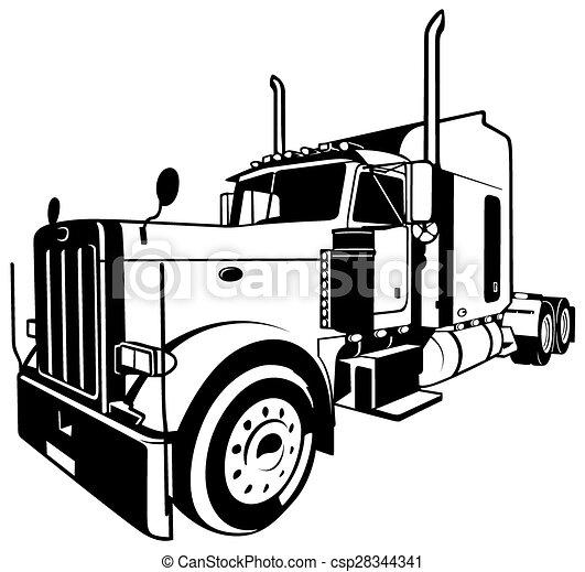 amerikan, lastbil - csp28344341
