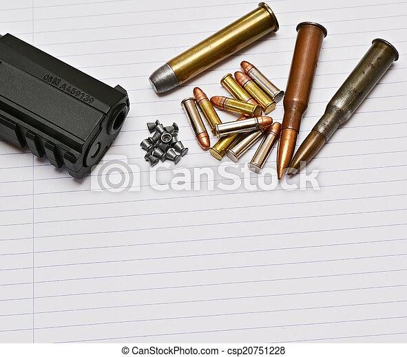 ammunition, gevär - csp20751228