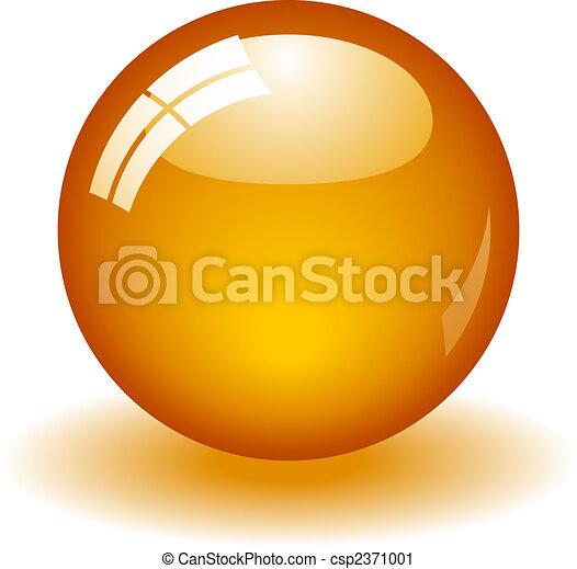 apelsin, boll, glatt - csp2371001