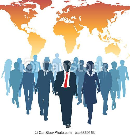 arbete, affärsfolk, global, mänsklig, lag, resurser - csp5369163