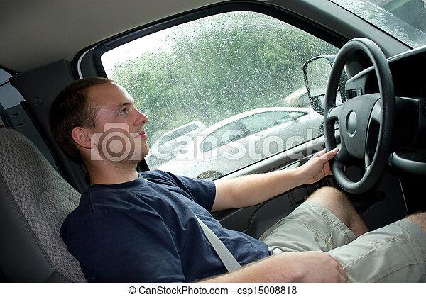 arbete, bemanna driva, eller, skåpbil, lastbil - csp15008818