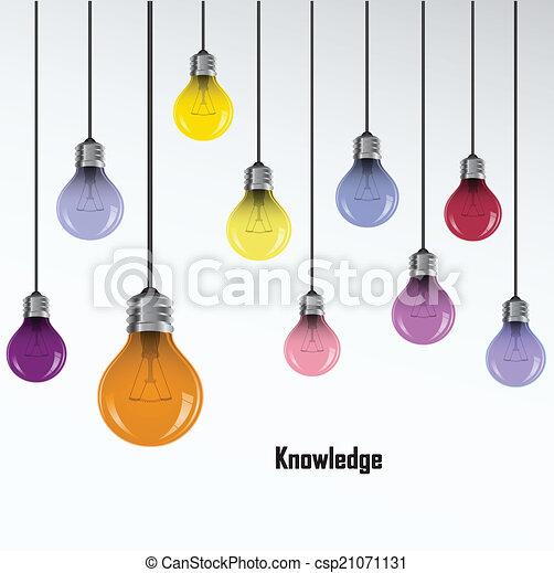bakgrund, skapande, lök, lätt, idé, begrepp - csp21071131