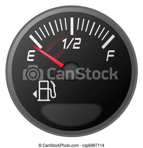 bensin, drivmedel, meter, mätare - csp6997114