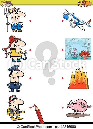 bilder, lek, lurar, tändsticka - csp42346980