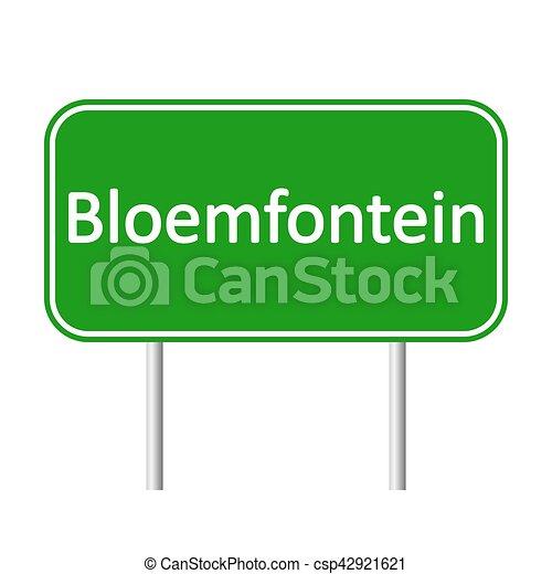 bloemfontein, skylt., väg - csp42921621