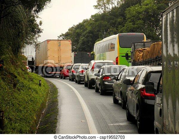 brasilien, marmelad, trafik, motorväg - csp19552703
