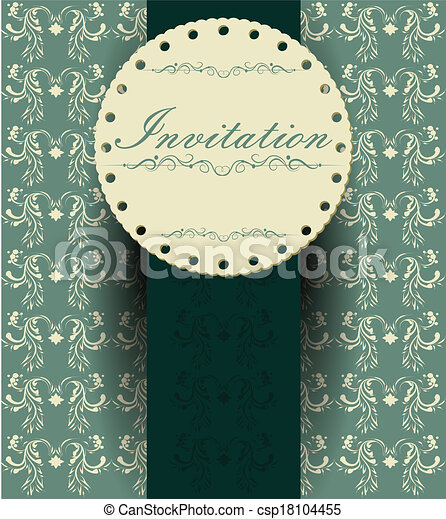 decoretive, kort, inbjudan - csp18104455