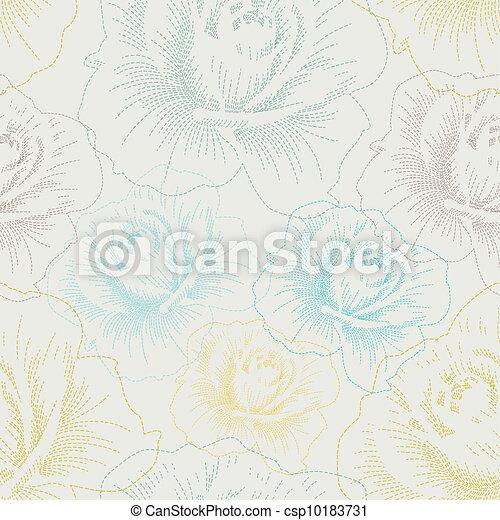färg, mönster, seamless, hand, ro, teckning - csp10183731
