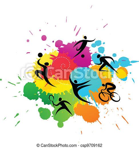 färgrik, -, illustration, vektor, bakgrund, sport - csp9709162