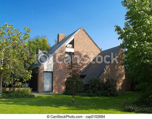 förorts-, house. - csp0102684