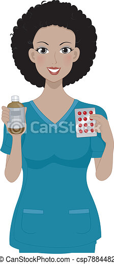 flicka, medicin - csp7884482
