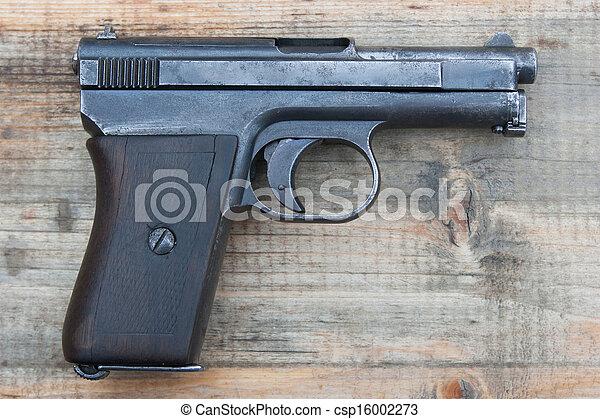 gammal, mauzer, gevär, hand - csp16002273