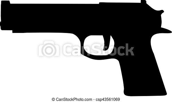 gevär, ikon - csp43561069