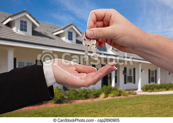 giren, stämm, hus, över, färsk, främre del, hem - csp2890905