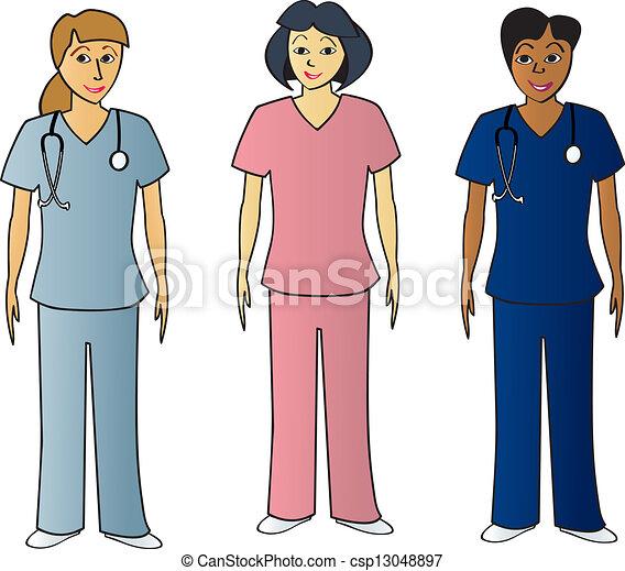 hälsa, pros, kvinnlig, skura - csp13048897