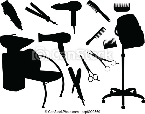 hår, utrustning - csp6922569