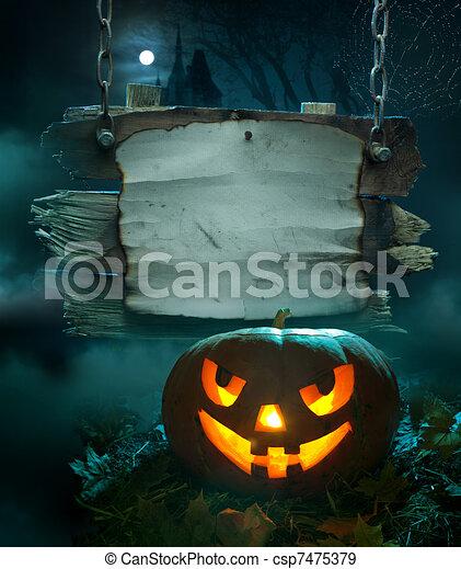 halloween, design, bakgrund - csp7475379