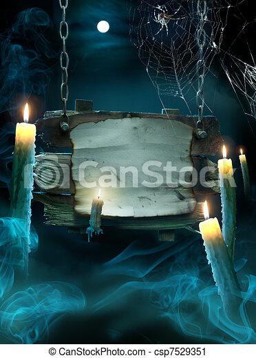 halloween festa, bakgrund, design - csp7529351