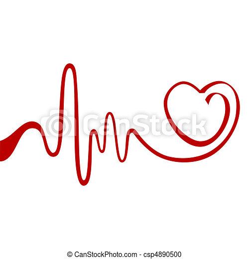 hjärta, abstrakt - csp4890500