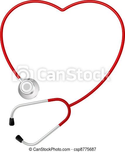 hjärta, symbol, stetoskop - csp8775687