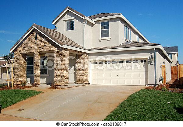 hus, förorts- - csp0139017