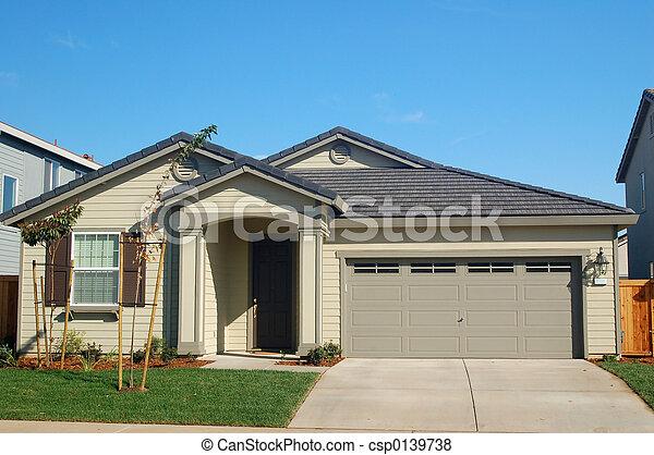 hus, förorts- - csp0139738