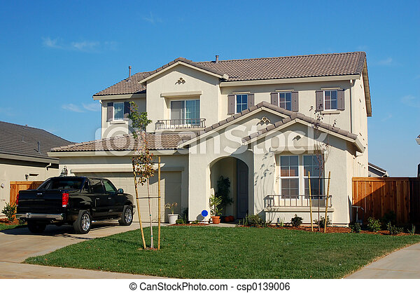 hus, förorts- - csp0139006