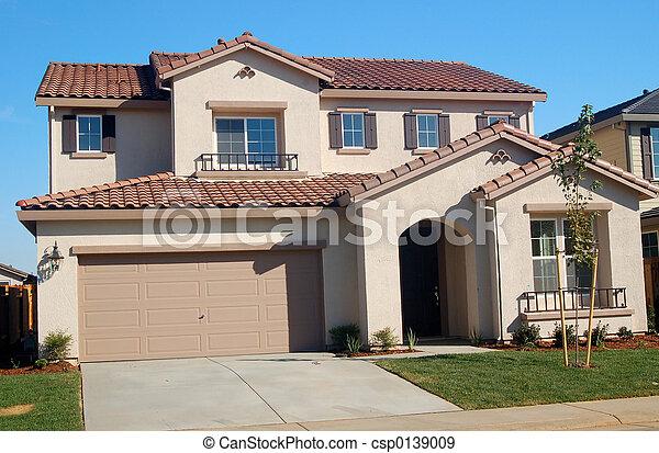 hus, förorts- - csp0139009