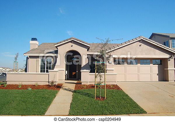 hus, förorts- - csp0204949