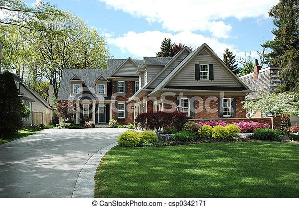 hus, svart, stänger med fönsterluckor - csp0342171
