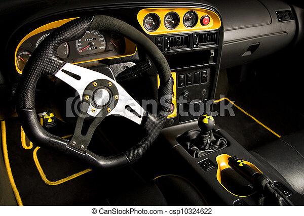 inre, bil, sport, stämd - csp10324622