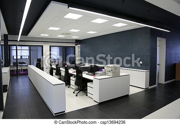 inre, nymodig, kontor - csp13694236