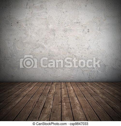 inre, vägg, smutsa ner, tom - csp9847033