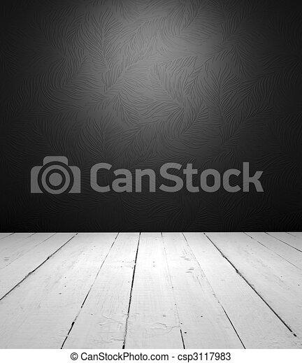 inre, vit, svart, tom - csp3117983