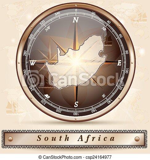 karta, afrika, syd - csp24164977