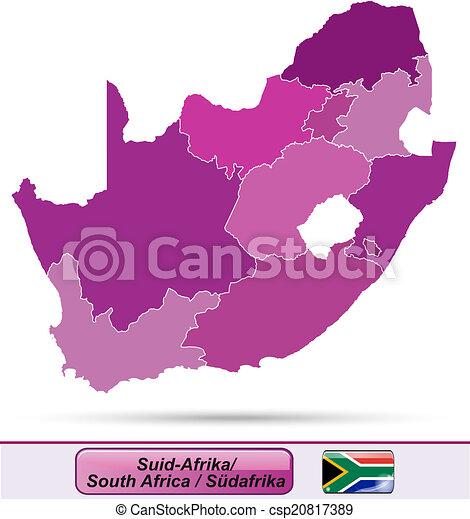 karta, afrika, syd - csp20817389