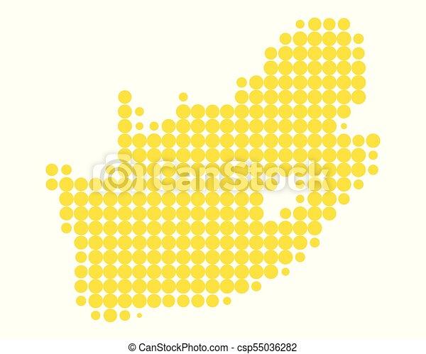 karta, afrika, syd - csp55036282
