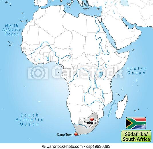 karta, afrika, syd - csp19930393