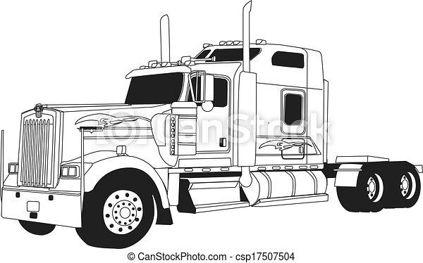 kenworth, lastbil - csp17507504