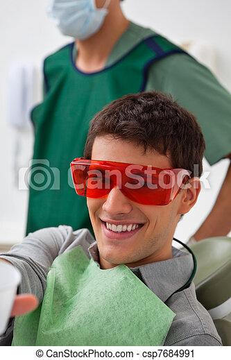 klinik, tålmodig, dentistal - csp7684991