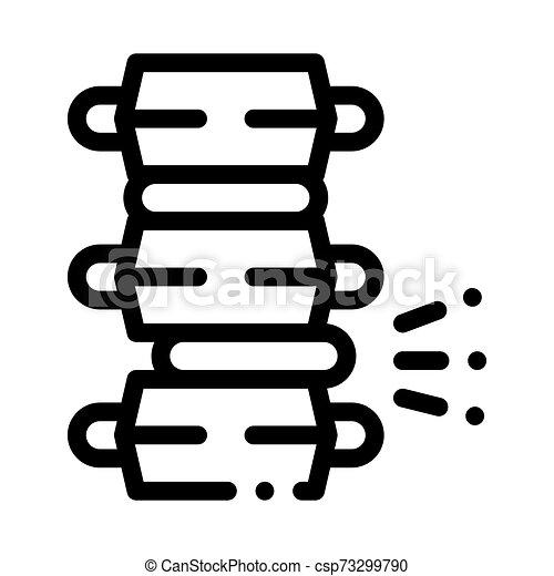 kolonn, problem, skiva, cirkulär, smärta, ryggrads, vektor - csp73299790