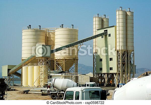 konkret, fabrik - csp0598722