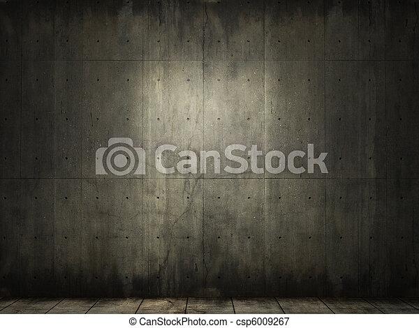 konkret, grunge, rum, bakgrund - csp6009267