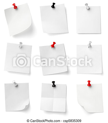 kontor, affär, anteckning tidning, stift, trycka - csp5835309