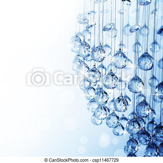 kristall, ljuskrona, nymodig - csp11467729