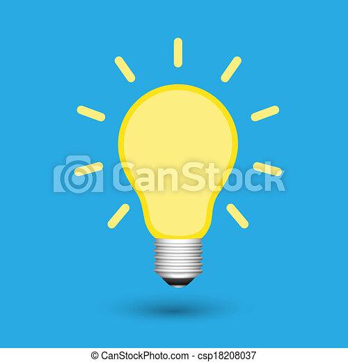 lätt, idé, lök, skapande - csp18208037