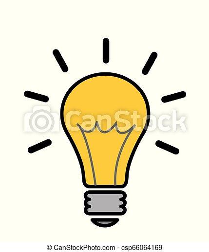 lätt, vektor, idé, illustration, lök - csp66064169