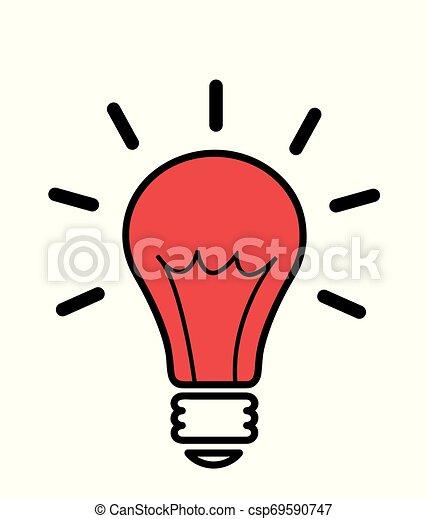 lätt, vektor, idé, illustration, lök - csp69590747