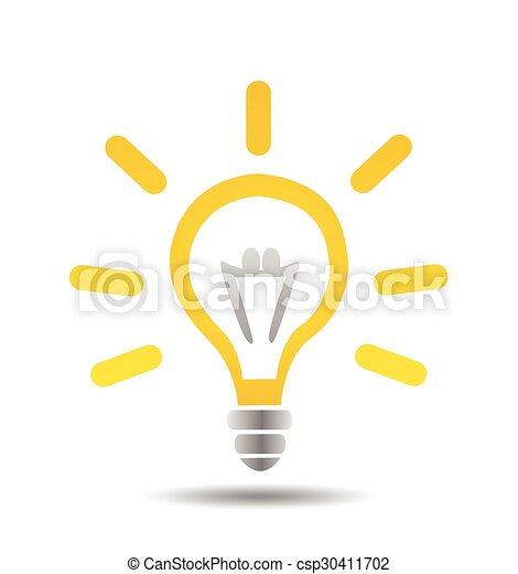 lätt, vektor, idé, illustration, lök - csp30411702
